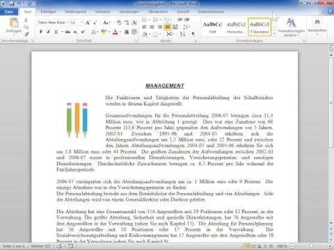 Microsoft Word 2010 Bundstege für gebundene Dokumente einstellen