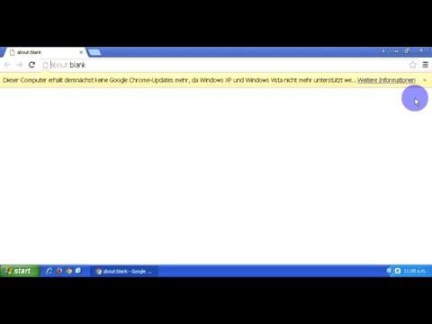 Problemlösung für Chrome Windows XP support-ende