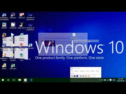 Windows 10 feature How to use the recycle bin