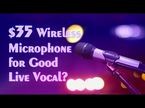 Wireless Microphone Setup - for Speaker, Amp and PA System