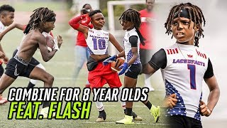 This 8 Year Old Football Combine Was INSANE! Flash Balls Out & Female Lineman DOMINATES The Boys!