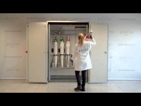 Regulation compliant gas cylinder storage (EN 14470-2)