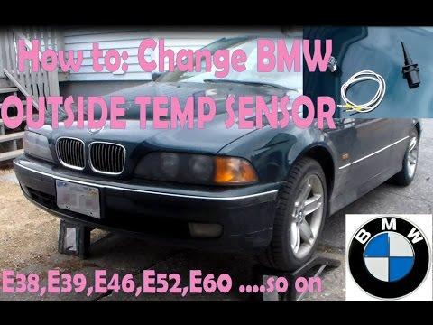 How to:  Change BMW EXTERNAL AMBIENT AIR  TEMPERATURE SENSOR E46 E39 E38 X3 X5 M5 M6 Z4