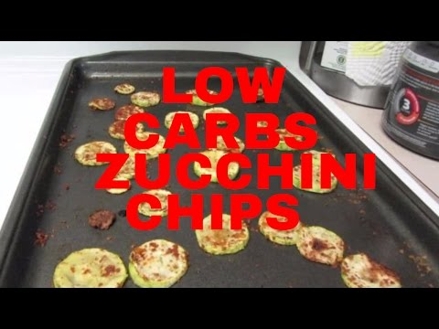 LOW CARBS ZUCCHINI CHIPS HEALTHY SNACK FOODS
