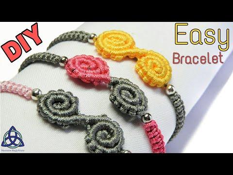 Easy Friendship Macrame Bracelet Tutorial: Spiral Bracelet 'Diya'  DIY