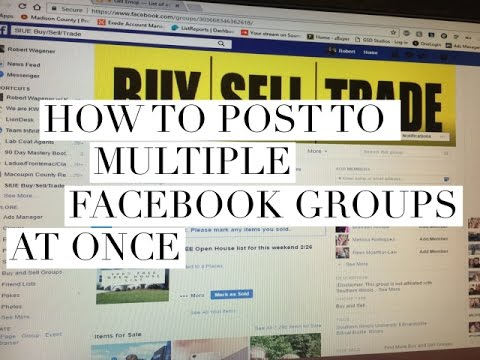 How to post to multiple Facebook groups at once/Facebook group posting tips