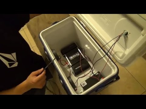 How to Turn an Ice Chest Cooler into a Stereo