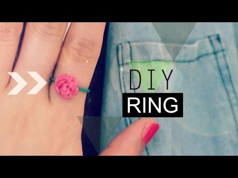 DIY Crafts: A Rose Ring(anillo) Made of Polymer Clay - MakeWon