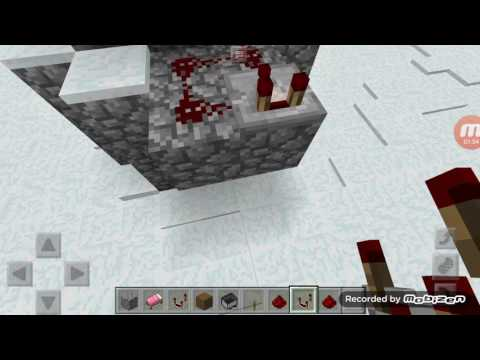 How to make a working redstone ore ligth in minecraft pe