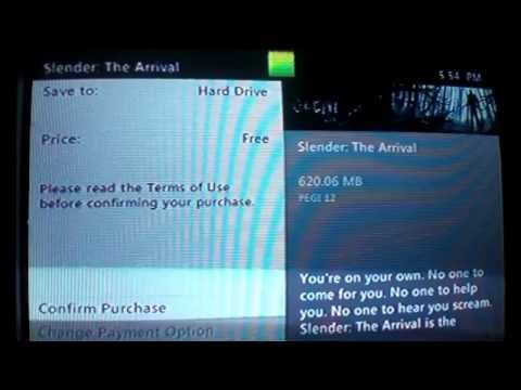 How to get slender: the arrival free on xbox 360