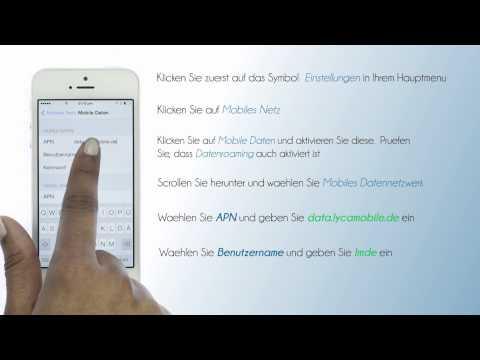 Lycamobile Deutschland - Mobiles Internet Einstellungen für iPhone
