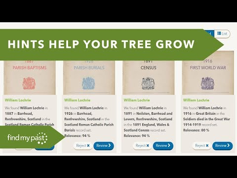 Build your Family Tree with Hints | Findmypast