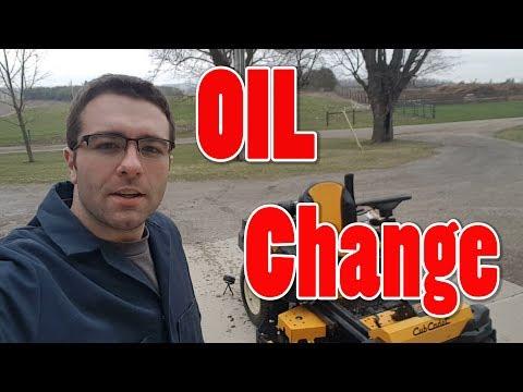 Cub Cadet Z-Force SX 60 Oil Change
