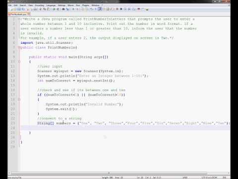 CA Exercise 1 - Java Tutorials Arrays Strings Scanner Integer