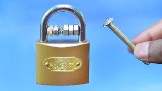 lock open by nut bolt