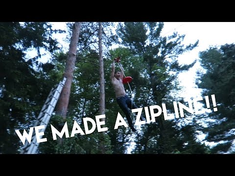 HOW TO BULD A ZIPLINE IN YOUR BACKYARD!