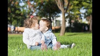 Adorable Babies First Kiss - Funny Baby Videos (2018)