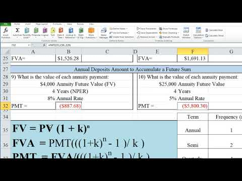 Time Value of Money Using Excel