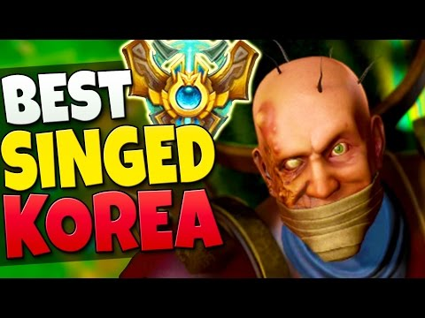 BEST SINGED IN KOREAN CHALLENGER! How to TROLL for ELO! - League of Legends