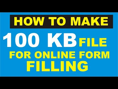 How to Reduce Photo Size Less than 20 KB / 10 kb / 100 KB