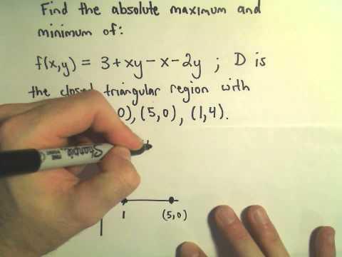 Absolute Maximum/Minimum Values of Multivariable Functions - Part 1 of 2