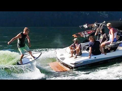 WAKESURFING - Surfing behind a Boat