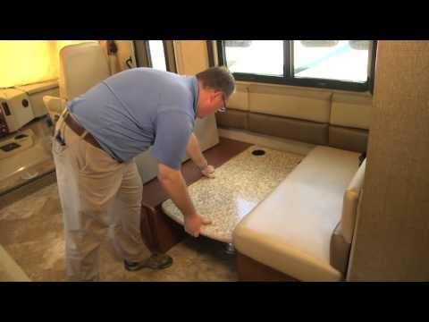 Booth Dinette to Bed Transformation