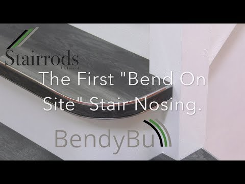How to. The First 'BEND ON SITE' Curved Stair Nosing From Stairrods UK Bendy Bull