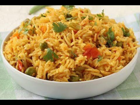 Biryani - Veg Pulao - Vegetable Pulao - Street food - Kuska Rice