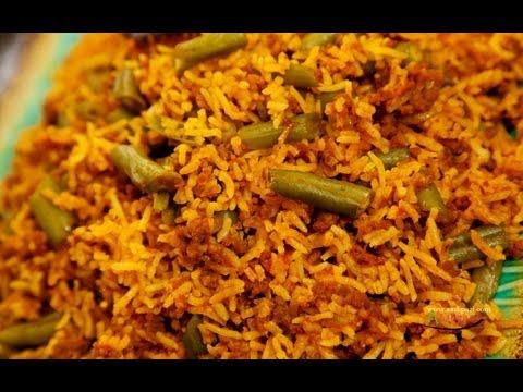 Estamboli (Loubia polo )string beans rice