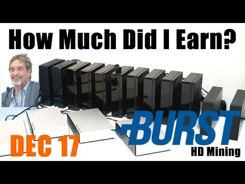 My Burstcoin Earnings December 2017 Update