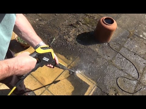 Karcher K4 Tackles Extremely Dirty Patio - Follow up Review