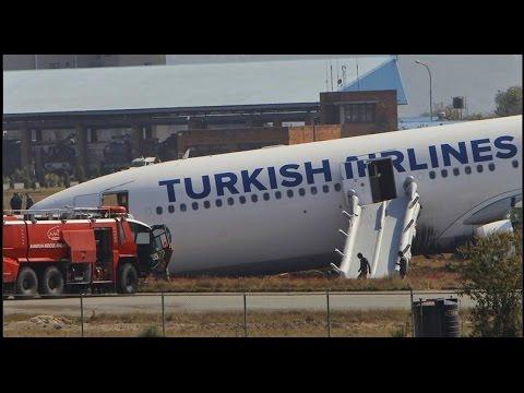 Turkish Airlines crash landing at Kathmandu