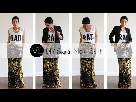 DIY Sequin Maxi Skirt Tutorial! w/ Mimi G