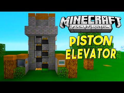 MCPE REDSTONE TUTORIAL - FAST Piston Elevator