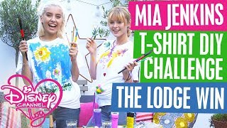 DISNEY CHANNEL VLOG with GUEST STAR MIA JENKINS | T-SHIRT DIY CHALLENGE | THE LODGE WIN