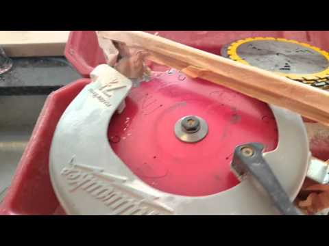 How to cut cultured marble with a power saw..