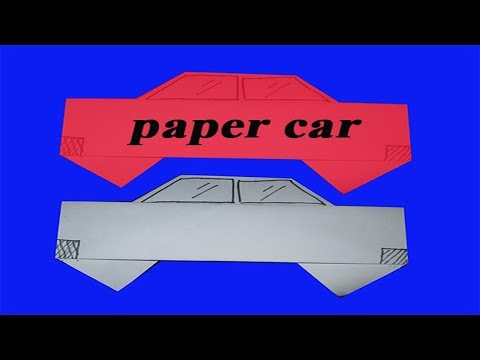 Amazing paper car - How to make paper cars - Paper car in the world