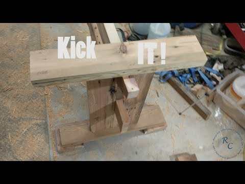 How to Make: the Trestle for a Reclaimed Barn Wood Farm House Style Dining Table