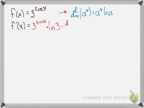 Derivative of an exponential with a trig exponent