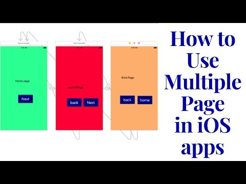 how to use multiple page in ios apps (swift)