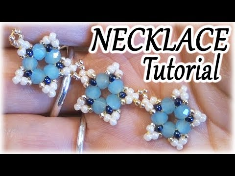 Necklace tutorial - How to make a beaded necklace with stars - Beading Tutorial