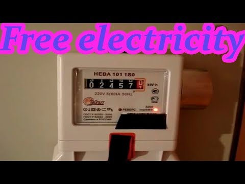 Free energy. Free electricity. How to lower your electric bill. Stop Power Meters (Magnet)