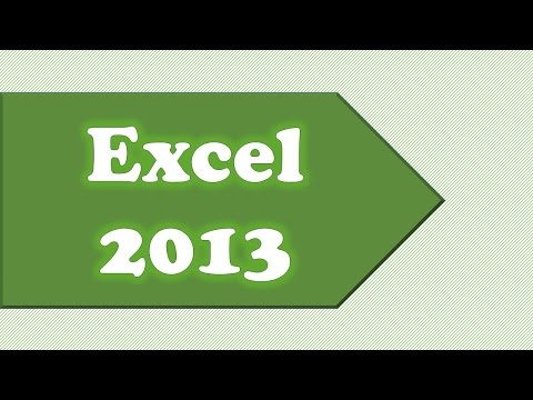 Basic Overview for Excel 2013