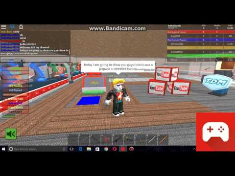 How to use jetpack in roblox Youtube Tycoon