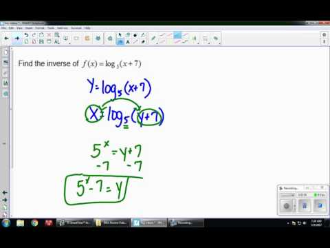 Finding the Inverse of Logs and Exponentials