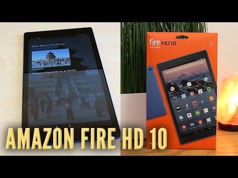 Amazon Fire HD 10 with Alexa - Handsfree Alexa Test! (New for 2017)