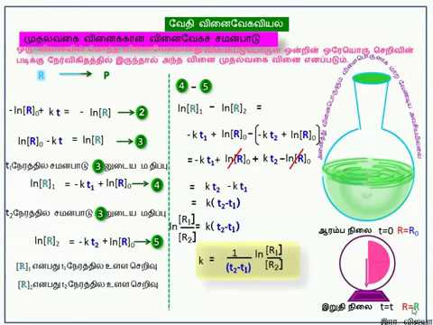 Integrated Rate Equation for First order kinetics in Tamil language