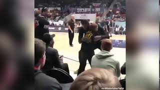This fan just wanted a hug from LeBron James at NBA All-Star Weekend!