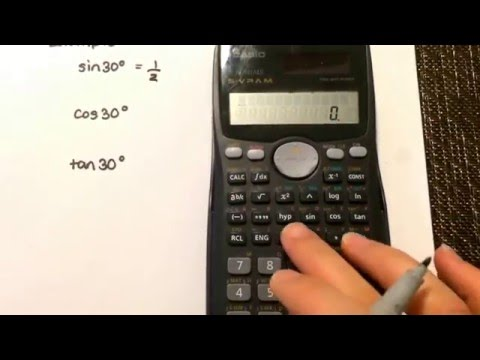 Trigonometry:  Calculating the ratio using your calculator Casio fx-991ms